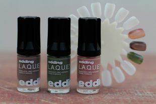 Edding Laque Nagellack Review Erfahrungen Farben Kind Khaki No. 183 Inspiring Ivory No. 144 Greedy Grey No. 194