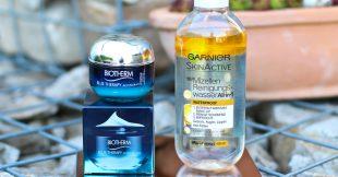 Feuchtigkeitsbooster - Biotherm Blue Therapy Accelerated Cream + Garnier Mizellen Reinigungswasser