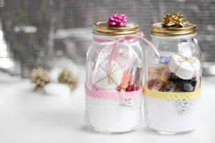 DIY Geschenkidee Weihnachten Manicure Jar